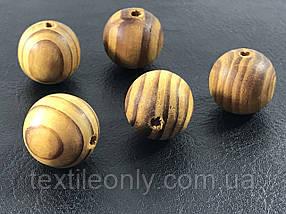 Деревянные бусины узор можжевельник 19 мм