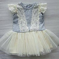 Платье Меланж ТМ Happy ToT 100% хлопок размеры 62,68,74,80,86