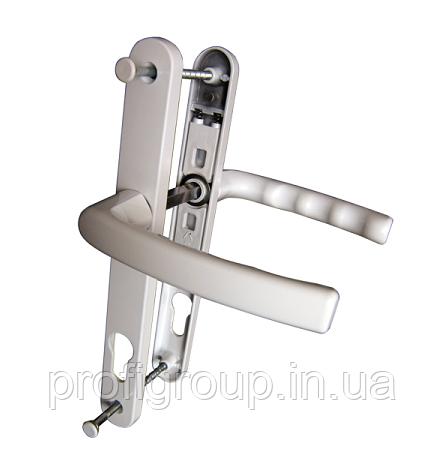 Vorne / Нажимной дверной гарнитур VORNE 28/92/200 с пружиной белый  для ПВХ дверей (дверная ручка)