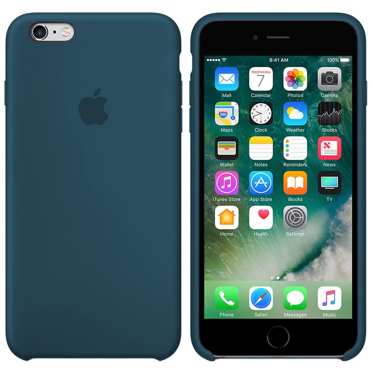 Силиконовый чехол для Apple iPhone 6 / 6S (4.7 Дюйма) Silicone case (Форест Грин)