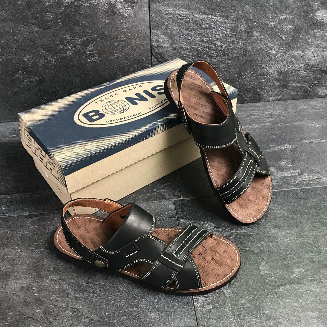 Сандали мужские кожаные Bonis (сандалі чоловічі). Топ качество. Реплика класса люкс