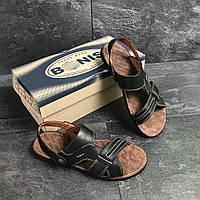 Сандали мужские кожаные Bonis (сандалі чоловічі). Топ качество. Реплика класса люкс, фото 1