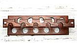 Унивесальная двухсторонняя подставка под 10 трубок из ясеня, фото 7