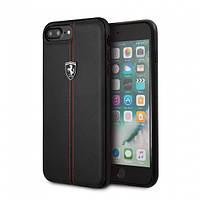 Чехол-накладка Ferrari для Apple iPhone 7 Plus/8 Plus Черный (IP4421023005)