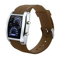 Мужские светодиодные электронные часы (Коричневые)