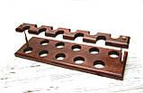 Подставка для трубок из ясеня на 10 шт, фото 8