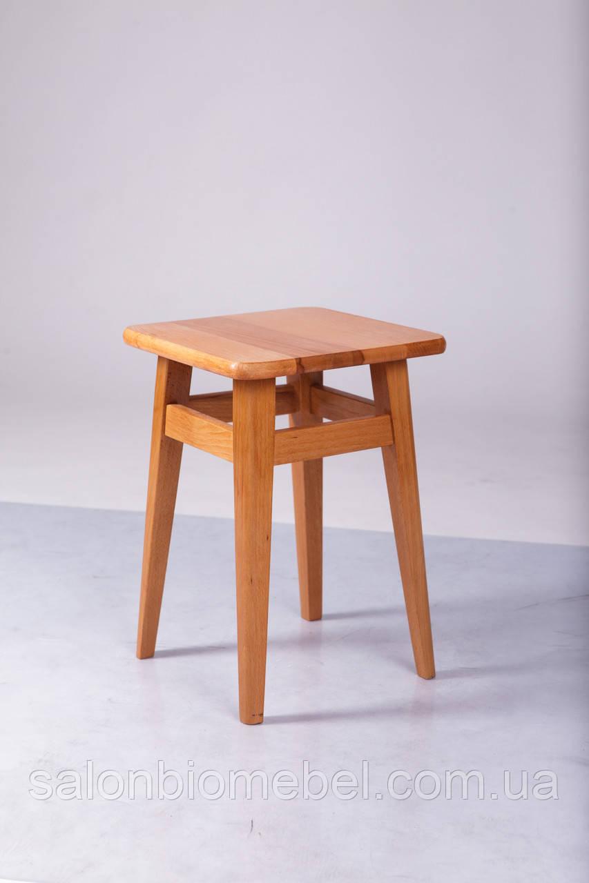 Табурет деревянный Смарт на прямых ножках светлый орех