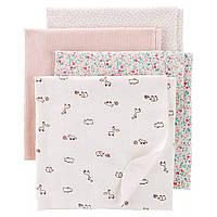 Комплект фланелевых пелёночек Carter's для девочек (США)