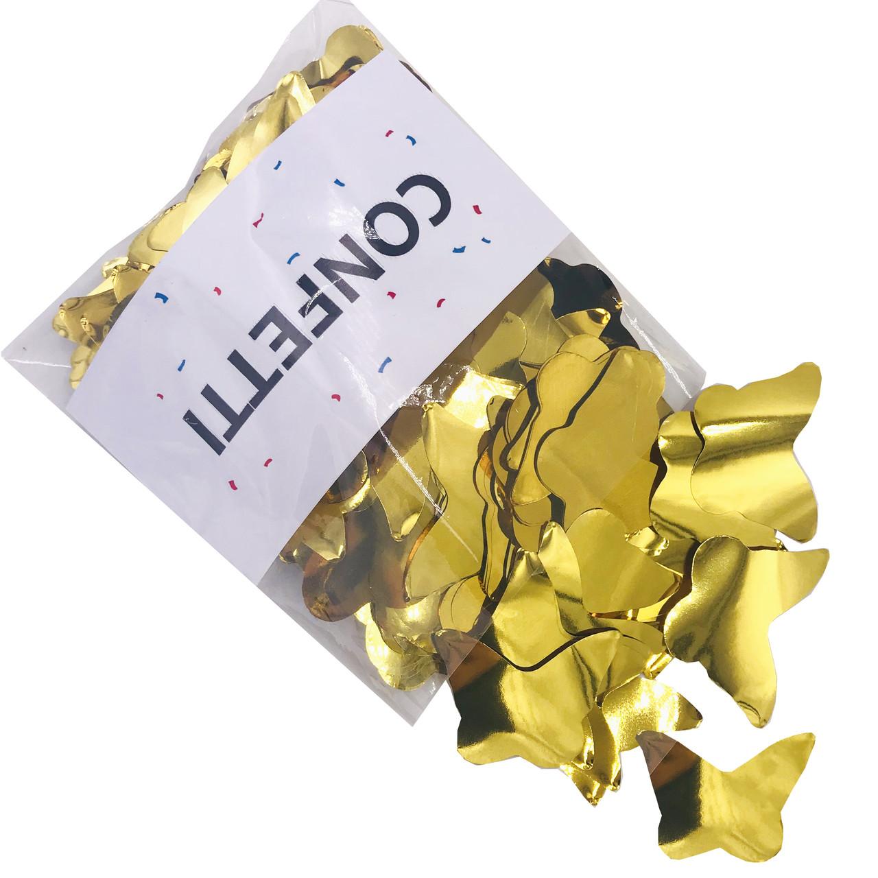 Конфетти Бабочки фольгированные золото 50 г