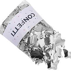 Конфетти Бабочки фольгированные серебро 250 г