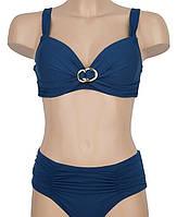 Женский раздельный купальник ATLANTIC, батальные размеры, код ММ-0049. Темно-синий
