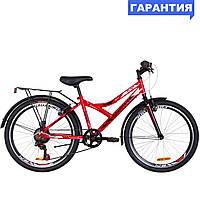 """Велосипед 24"""" Discovery FLINT MC 2019 (красно-белый с черным)"""