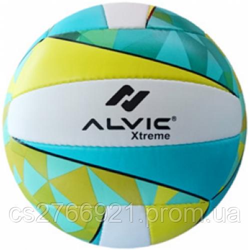 """Мяч волейбольный """"Алвик Xtreme"""" цвет зеленый-желтый №5"""