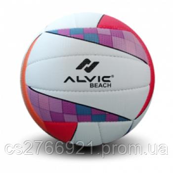 """Мяч волейбольный """"Алвик Beach"""" цвет розовый синий №5"""