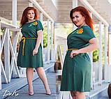 Женское платье льняное летний сарафан свободного фасона размер:42-4,46-48,50-52,54-56, фото 2
