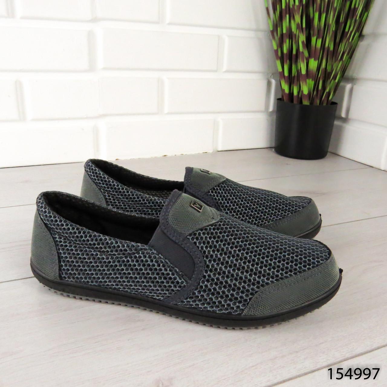 """Мокасины мужские, серые """"Anbaty"""" текстильные, туфли мужские, повседневная, удобная, весенняя, мужская обувь"""