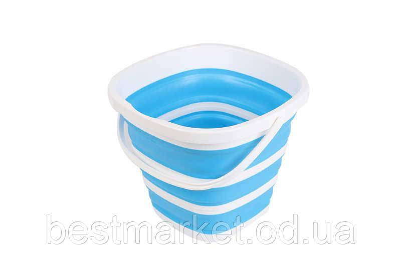 Складное Туристическое Квадратное Ведро 10 литров Collapsible Bucket (2851)
