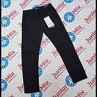 Котоновые подростковые брюки для мальчиков в мелкую полоску оптом GRACE