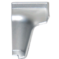 Угол внутренний для гладкого алюминиевого плинтуса Z форма