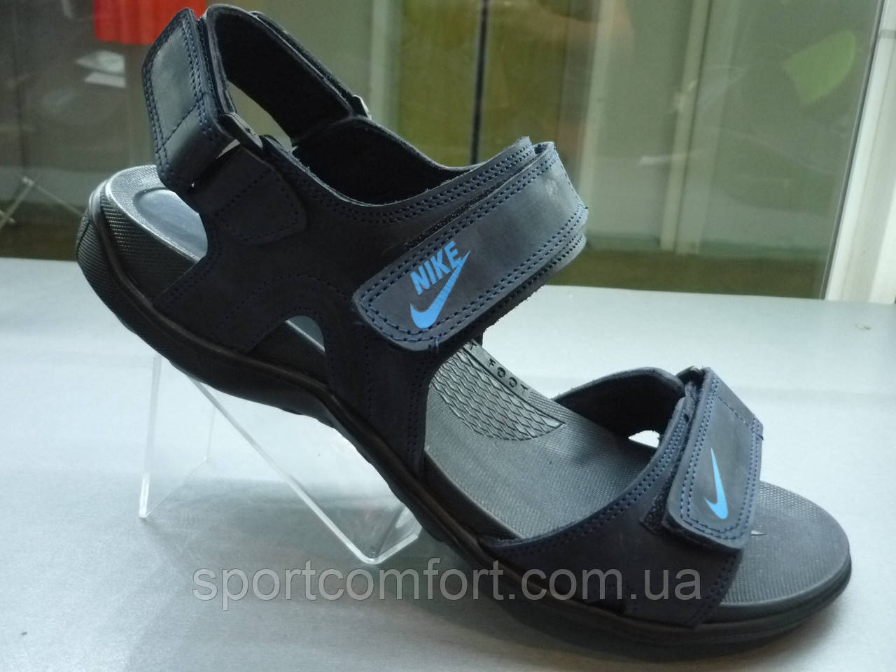 Сандалии Nike мужские коричнивые синие №8