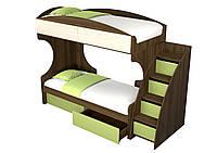 Кровать 2-х ярусная с ящиками на роликах Селект, фото 1