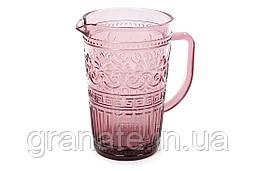 Кувшинстеклянный для напитков 1500 мл, цвет: пурпурный