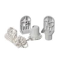 Механизм для крепления ролет Стандарт 25 мм пластиковый белый Деко-Сити OST-1256