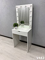 Компактный туалетный столик. Модель V442  белый, фото 1