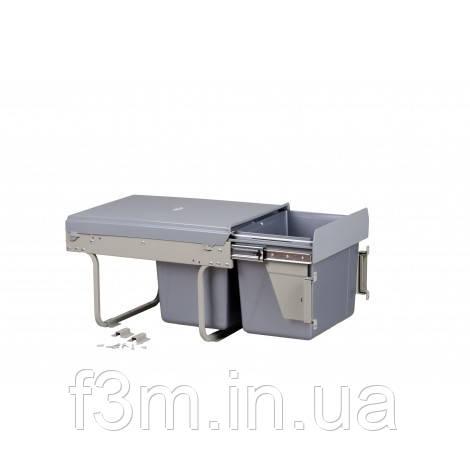 Система для отходов MOVIMENTO:2 ВЕДРА×15 Л на направляющих полного выдвижения с доводчиком