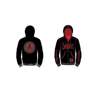 Куртка флисовая Lucky John (чёрная) XXXL