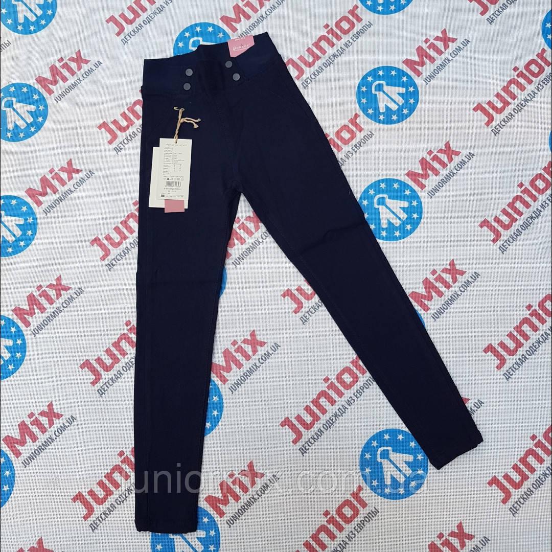 Котоновые стрейчевые брюки для  девочек подростков  синего цвета оптом GRACE