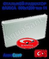 Стальной радиатор Sanica 500x1200 тип 11 боковое подключение