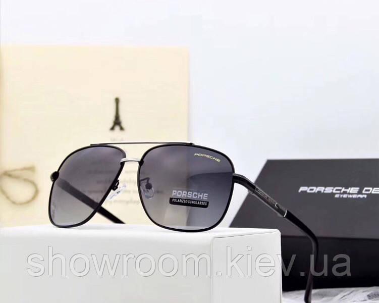 Мужские солнцезащитные очки в стиле Porsche Design c поляризацией (p-8825)