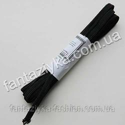 Бельевая резинка узкая 7мм черная (3 метра)
