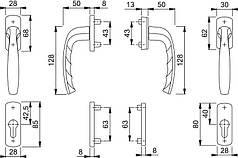 Балконний гарнітур срібло  F1 0810/961N U10/ 0810