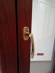 Віконна ручка Roissy 37mm. латунь. золото поліроване