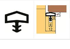 Ущільнювач  Trelleborg для міжкімнатних дверей, коричневий.