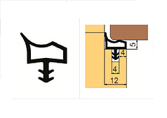 Ущільнювач Trelleborg для міжкімнатних дверей коричневий