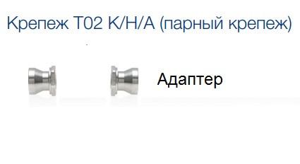 Кріплення blaugelb T02 K/H/A (парний, 1 комплект по 2 гвинта) адаптер