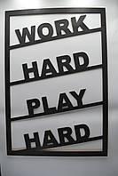 "Мотивационный постер с дерева ""Work Hard"" 50*70"