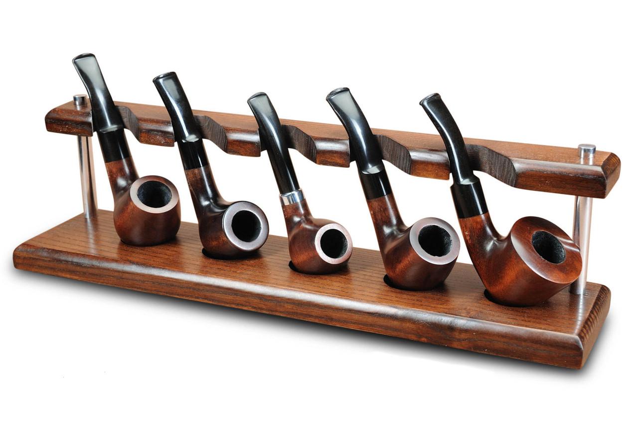Универсальная подставка из ясеня для 5 трубок