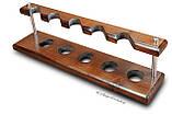 Универсальная подставка из ясеня для 5 трубок, фото 3