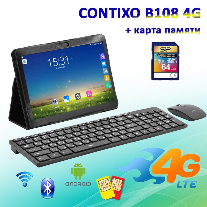 "Игровой Планшет CONTIXO B108 4G 10.1"" 1280х800 1GB RAM 16GB ROM GPS + Радионабор + Карта памяти 64GB, фото 1"