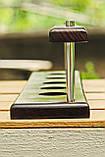 Подставки для курительных трубок из дерева ясеня для 5 шт, фото 6