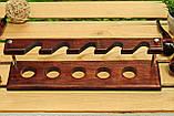 Подставки для курительных трубок из дерева ясеня для 5 шт, фото 7