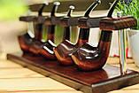 Подставки для курительных трубок из дерева ясеня для 5 шт, фото 8