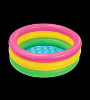 Детский надувной бассейн Радуга, 65х35 см