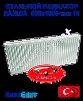Стальной радиатор Sanica 300x1800 тип 11 боковое подключение