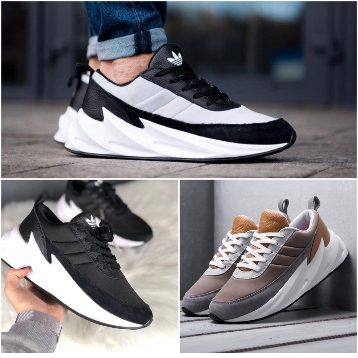 ТОП качество. Кроссовки 40-44 размеры в стиле Adidas Sharks, 3 цвета в наличии