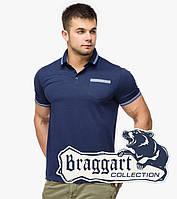 Braggart | Рубашка мужская поло 6694 т.синий-электрик